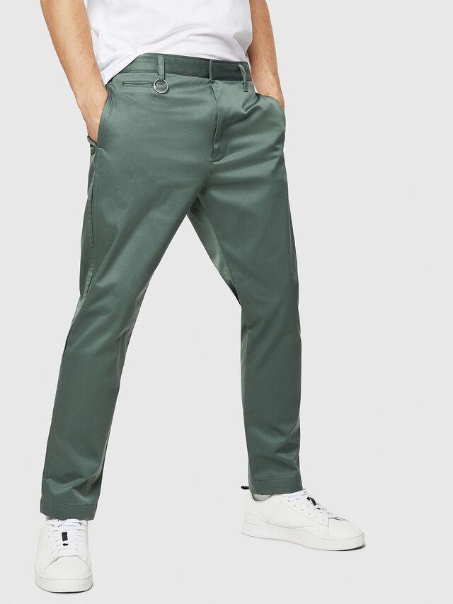 Diesel - P-MAD-ICHIRO, Green Melange - Pants - Image 1