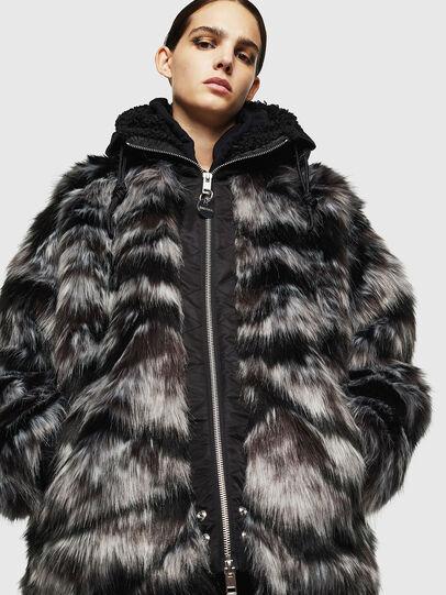Diesel - L-ALYA, Black - Leather jackets - Image 3