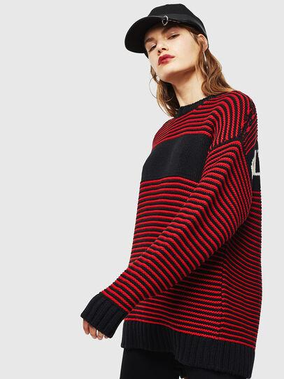 Diesel - K-BALLIS, Red/Black - Knitwear - Image 2