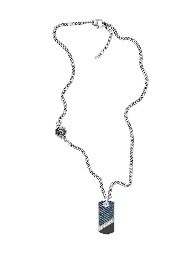 Diesel NECKLACE DX1030, Blue Jeans - Necklaces - Image 1