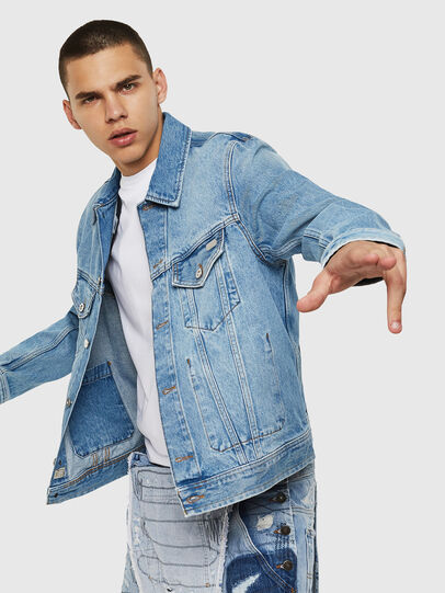 Diesel - D-BRAY, Light Blue - Denim Jackets - Image 4