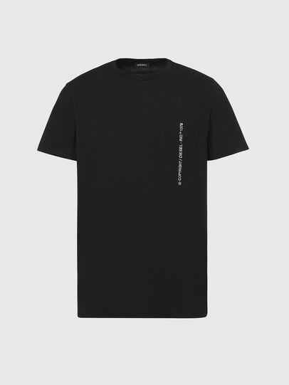 Diesel - T-RUBIN-POCKET-J1, Black - T-Shirts - Image 1