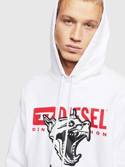 Diesel - S-GIR-HOOD-BX1, White - Sweaters - Image 3