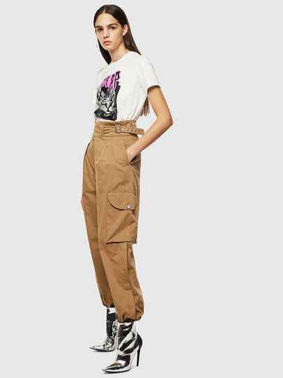 Diesel - P-CHIKU, Light Brown - Pants - Image 7