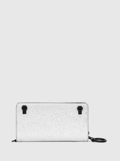 Diesel - GRANATO LCLS, Silver - Zip-Round Wallets - Image 2