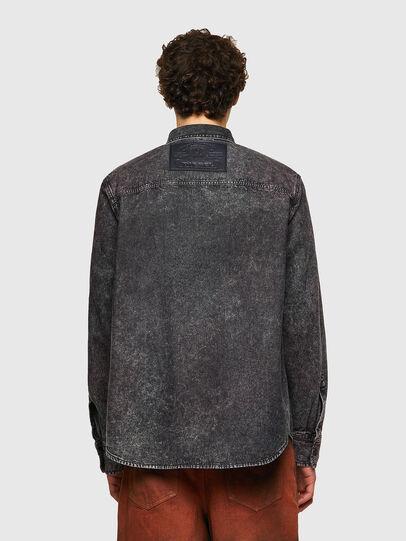 Diesel - D-WRAPP-SP, Black - Denim Shirts - Image 2