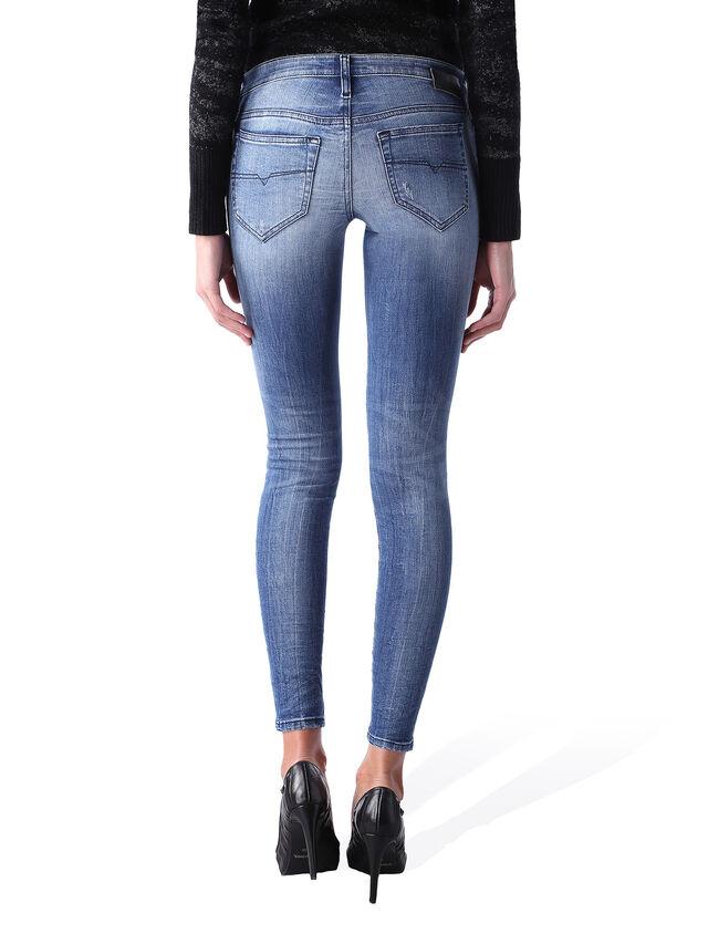 Diesel - Skinzee Low Zip 0847U, Medium blue - Jeans - Image 4