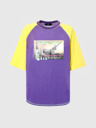 T-SPO, Violet/Yellow - T-Shirts