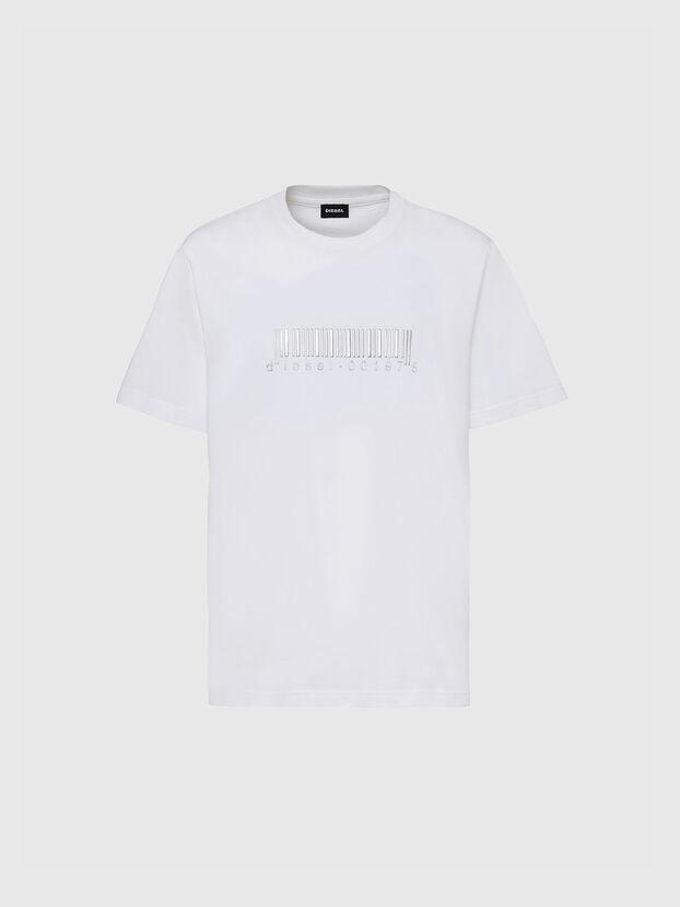 T-JUST-SLITS-X85, White - T-Shirts