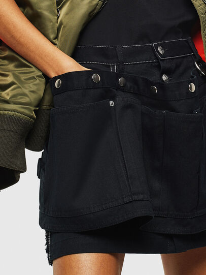 Diesel - O-LADEL, Black - Skirts - Image 7