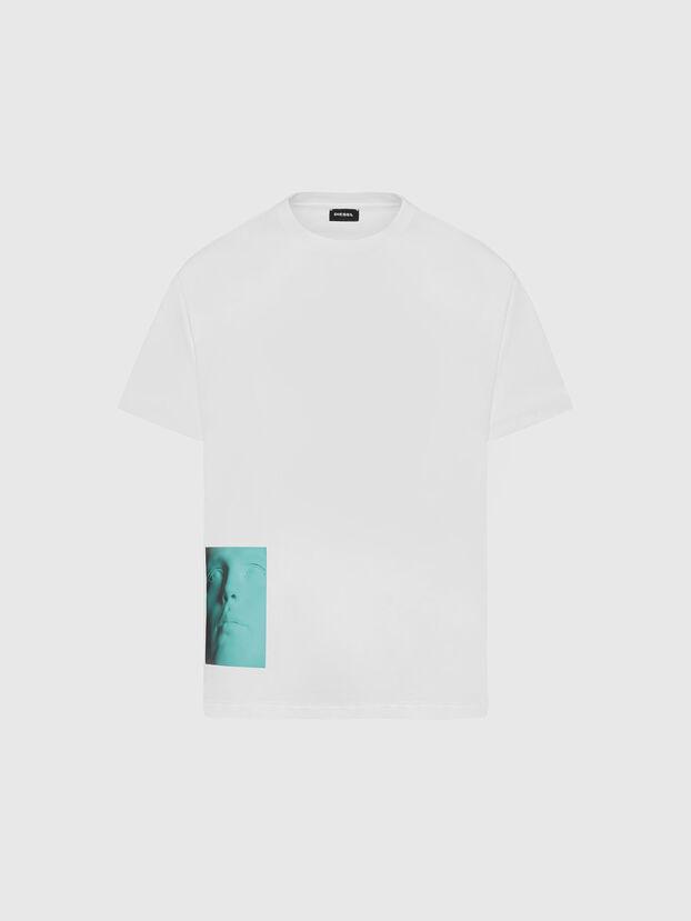 T-JUST-SLITS-X81, White - T-Shirts