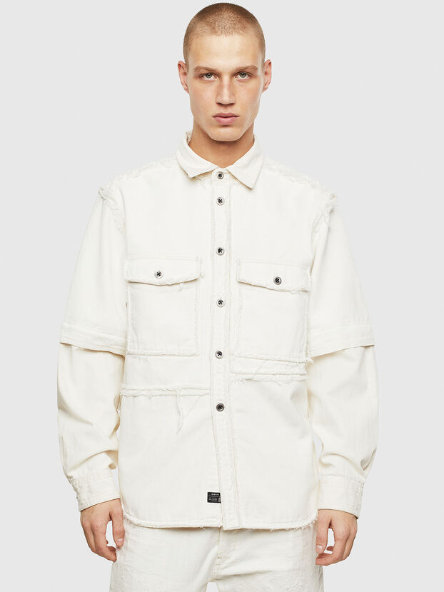 D-KURTIS, White - Denim Shirts