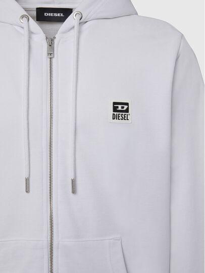 Diesel - S-GIRK-HOOD-ZIP-K1, White - Sweaters - Image 3