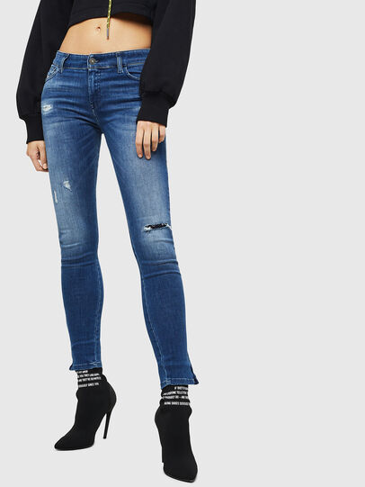 Diesel - Slandy Zip 089AI, Medium blue - Jeans - Image 1