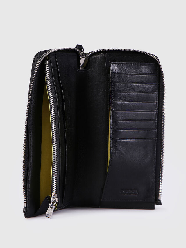 Diesel - L-24ZIP, Black - Zip-Round Wallets - Image 3