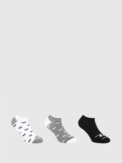 Diesel - SKM-GOST-THREEPACK, Grey/White - Socks - Image 1