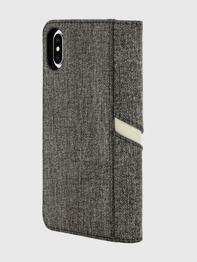 Diesel - DIESEL 2-IN-1 FOLIO CASE FOR IPHONE XS & IPHONE X, Grey - Flip covers - Image 4