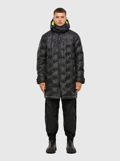 Diesel - W-RUSSELL-LONG-THERM, Black - Winter Jackets - Image 1