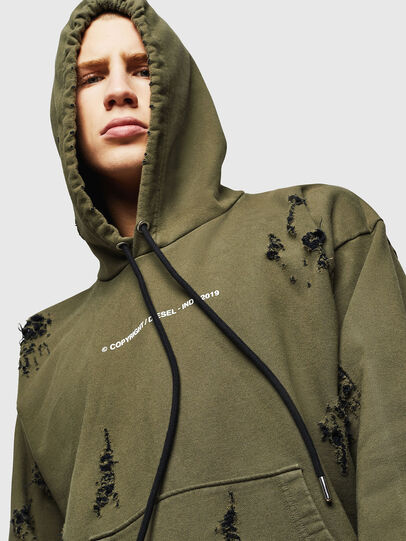Diesel - S-ALBY-RIP, Military Green - Sweaters - Image 4
