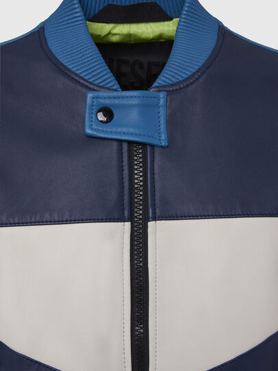 Diesel - L-MAY, Blue/White - Leather jackets - Image 4
