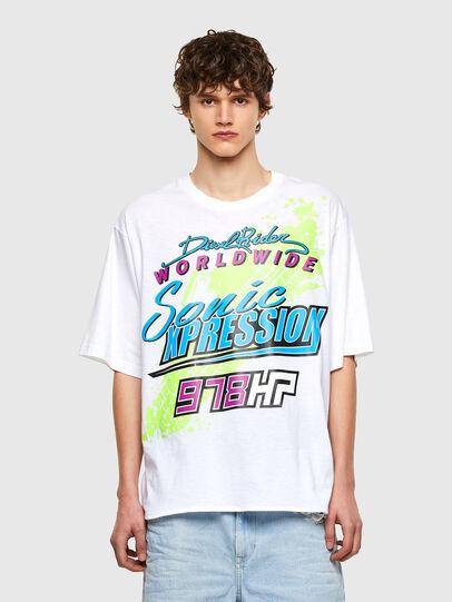 Diesel - T-DELPHONE, White - T-Shirts - Image 1