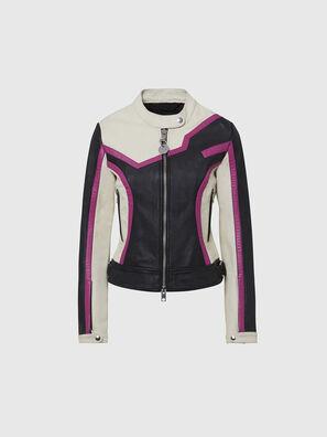 L-JOBE, Black/White - Leather jackets