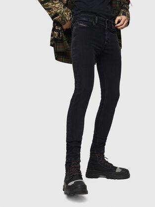Sleenker 0870G, Black/Dark grey - Jeans