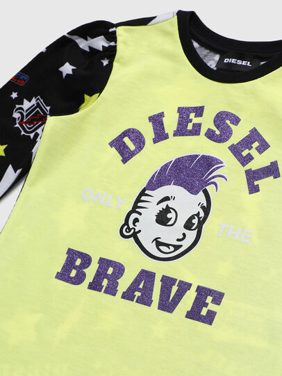 Diesel - TULLAB-R, Black/Yellow - T-shirts and Tops - Image 3