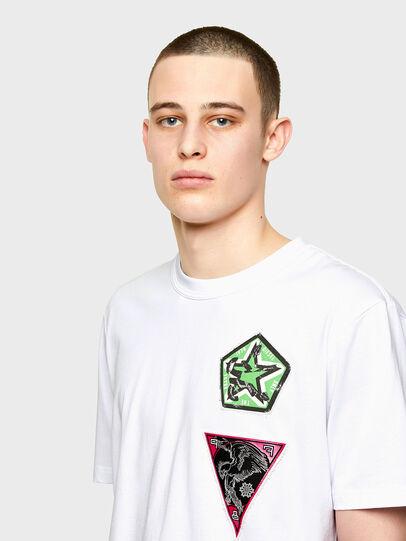 Diesel - T-JUBIND-SLITS-E1, White - T-Shirts - Image 3