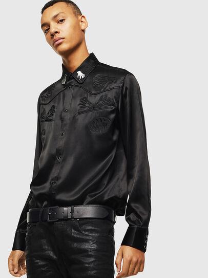 Diesel - S-VEL, Black - Shirts - Image 4