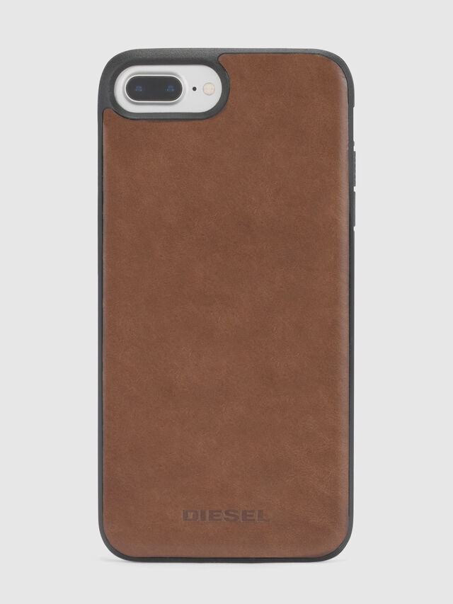 Diesel - BROWN LEATHER IPHONE X CASE, Brown - Cases - Image 2