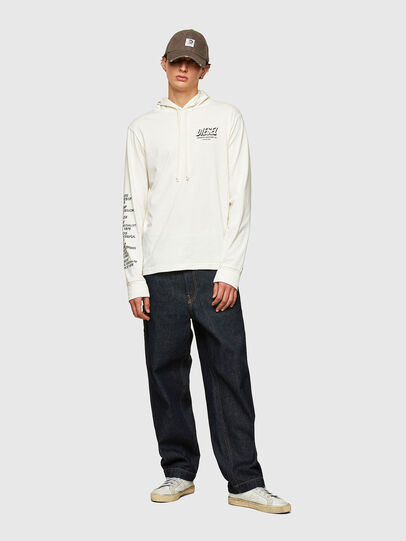 Diesel - T-JUST-LS-HOOD-SLITS, White - T-Shirts - Image 5