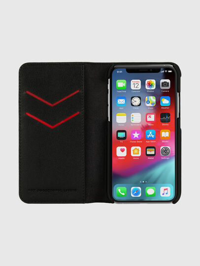 Diesel - DIESEL 2-IN-1 FOLIO CASE FOR IPHONE XS & IPHONE X, Black/White - Flip covers - Image 6