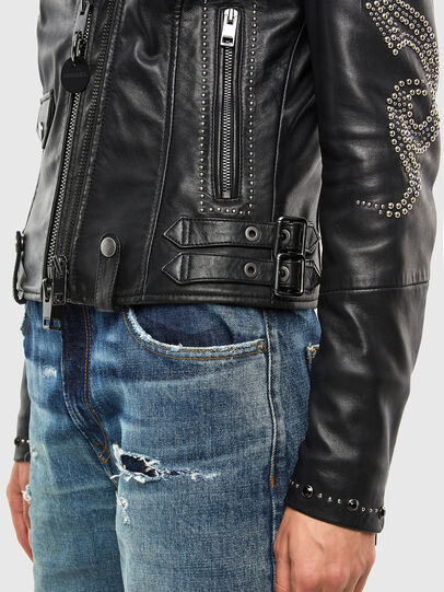Diesel - L-DIANE, Black - Leather jackets - Image 5