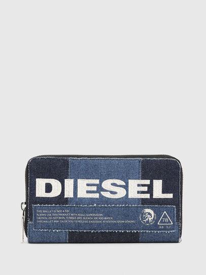 Diesel - GRANATO LC, Blue Jeans - Zip-Round Wallets - Image 1