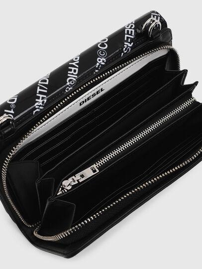 Diesel - DUPLET LCLT, Black/White - Zip-Round Wallets - Image 4
