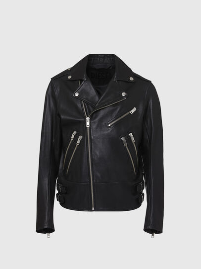 Diesel - L-GARRETT, Black - Leather jackets - Image 1