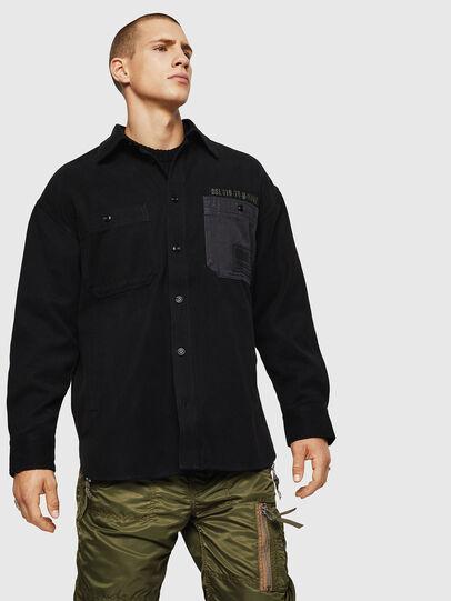 Diesel - S-LEBED, Black - Shirts - Image 1