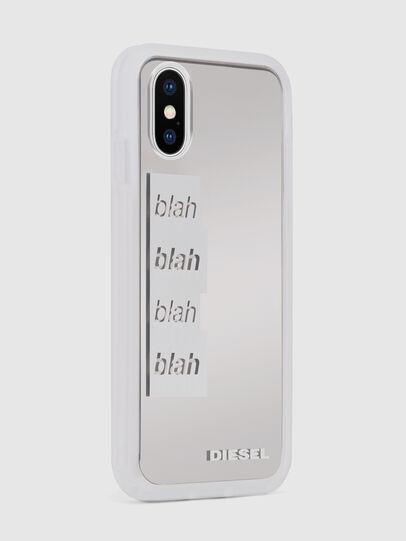 Diesel - BLAH BLAH BLAH IPHONE X CASE, White - Cases - Image 5