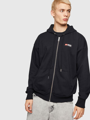 S-ALBY-ZIP-DIV, Black - Sweaters