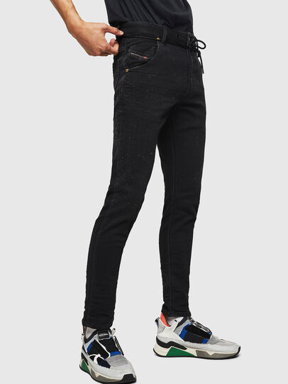 Diesel - Krooley JoggJeans 0092N, Black/Dark grey - Jeans - Image 5