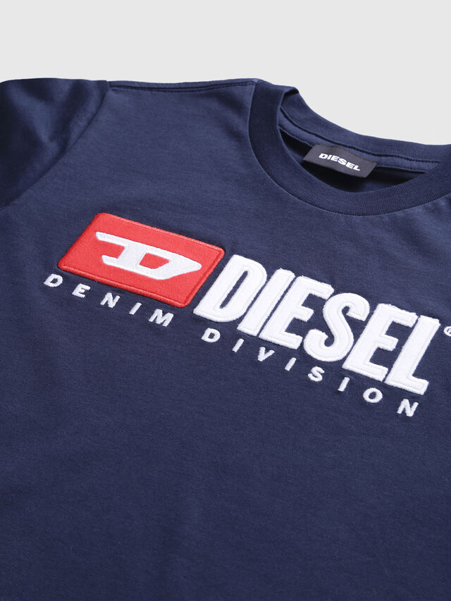 Diesel - TJUSTDIVISION, Dark Blue - T-shirts and Tops - Image 3