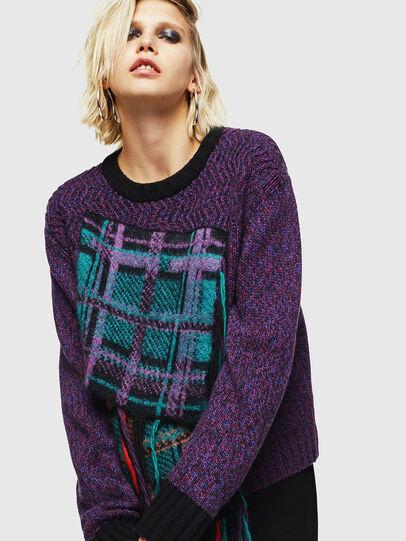 Diesel - M-TARTANN, Violet - Knitwear - Image 6