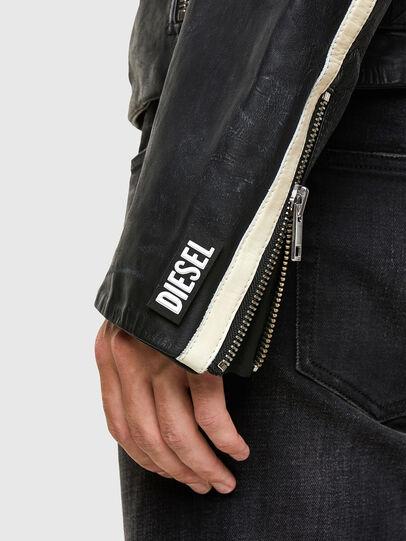 Diesel - L-PARKS, Black/Green - Leather jackets - Image 5