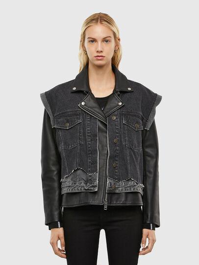 Diesel - L-KELLY, Black - Leather jackets - Image 1