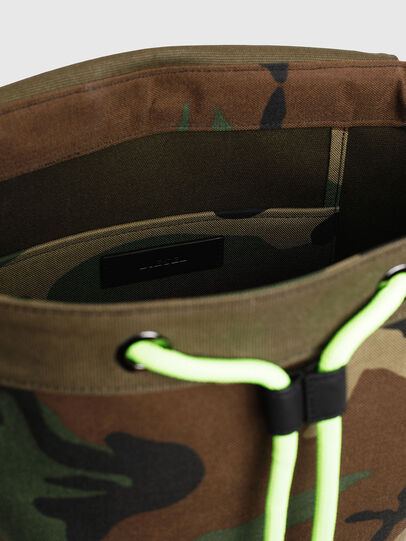 Diesel - VOLPAGO BACK, Green Camouflage - Backpacks - Image 5