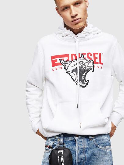 Diesel - S-GIR-HOOD-BX1, White - Sweaters - Image 4