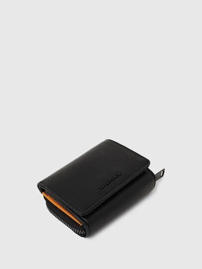 Diesel - SPEJAP, Black/Orange - Small Wallets - Image 4