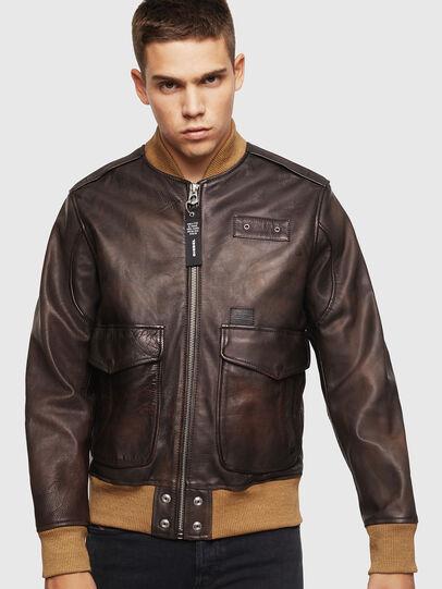 Diesel - L-OIUKI,  - Leather jackets - Image 1