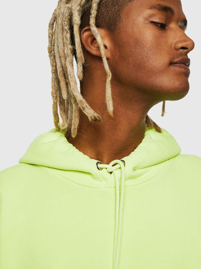 Diesel - S-ALBY-FLUO, Yellow Fluo - Sweaters - Image 4